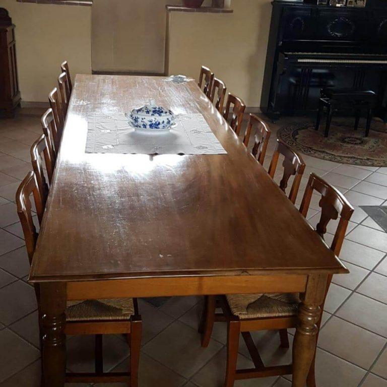grande tavolo in mogano fine 800