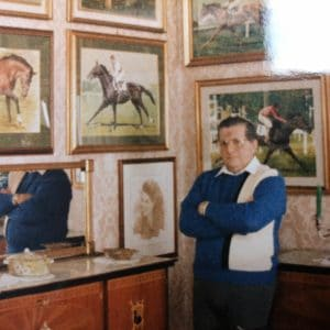 una rara immagine di Piero Cozzaglio